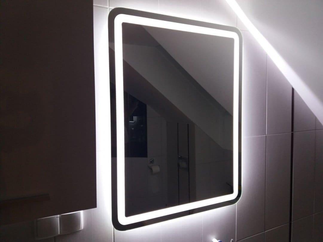Lustro podświetlane w kształcie prostokąta